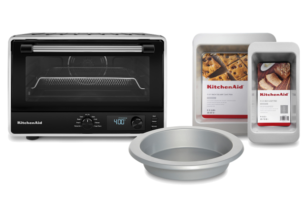 KitchenAid® Digital Countertop Oven with Air Fry and 3 Piece Bakeware Set Bundle.