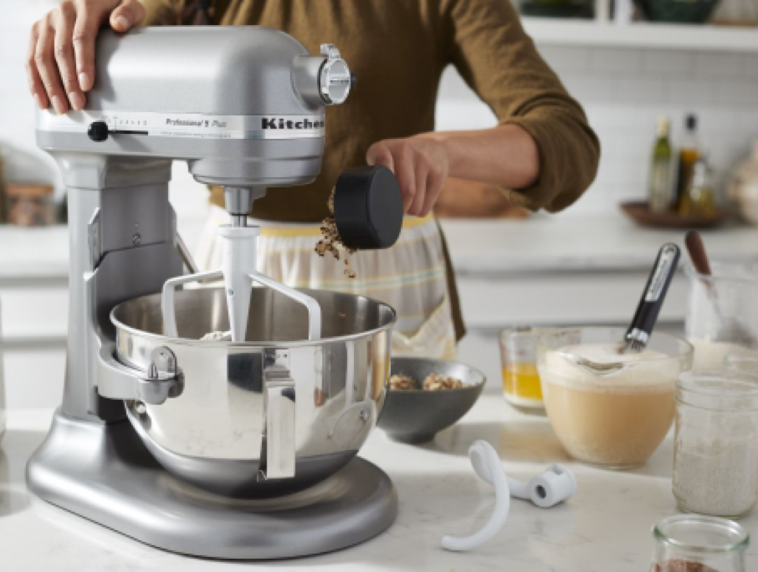 A bowl-lift KitchenAid® stand mixer