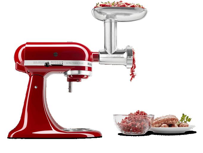 KitchenAid® stand mixer with Grinder attachment