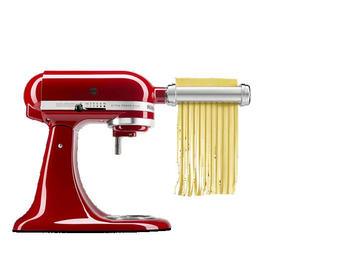 KitchenAid® stand mixer with Pasta attachment