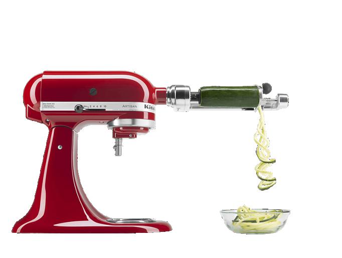 KitchenAid® stand mixer with Fresh Prep attachment