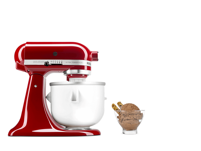 KitchenAid® stand mixer with Ice Cream Maker attachment