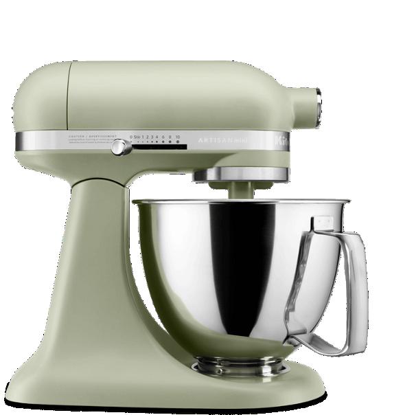 Matte avocado cream artisan® mini tilt-head Stand Mixer.