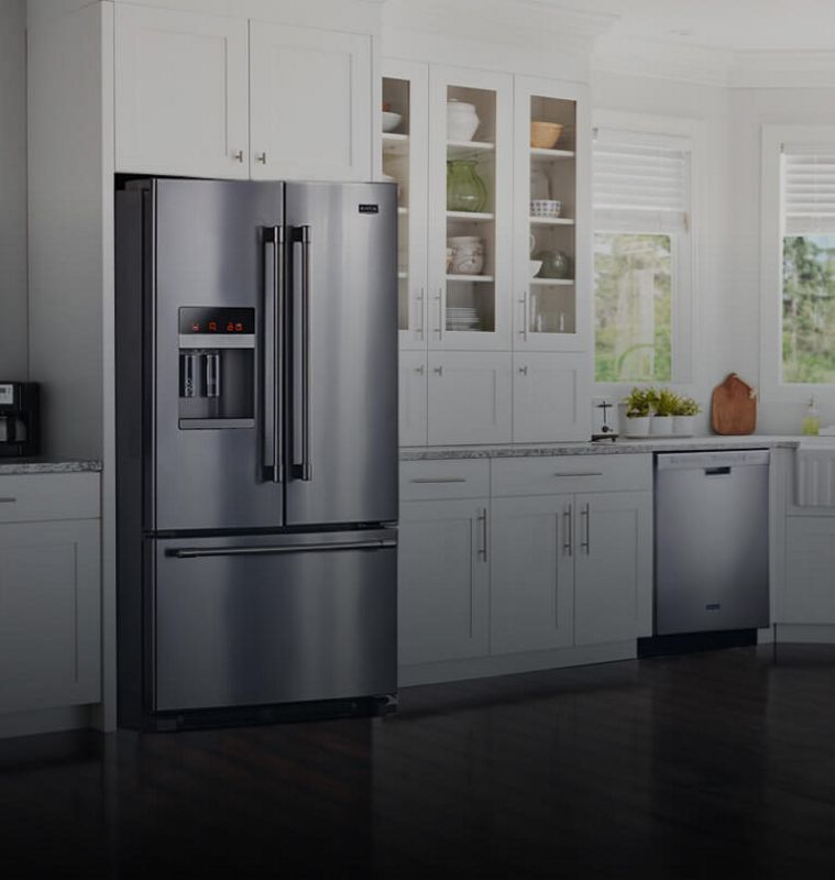 A clean, bright kitchen with Maytag® appliances.