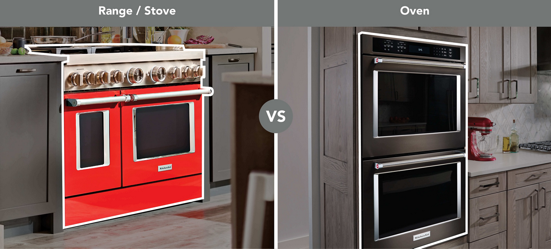Range vs wall oven side-by-side