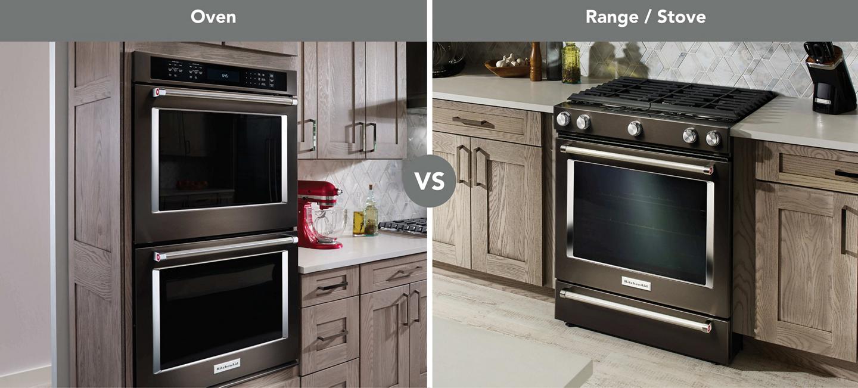 Wall oven vs range side-by-side