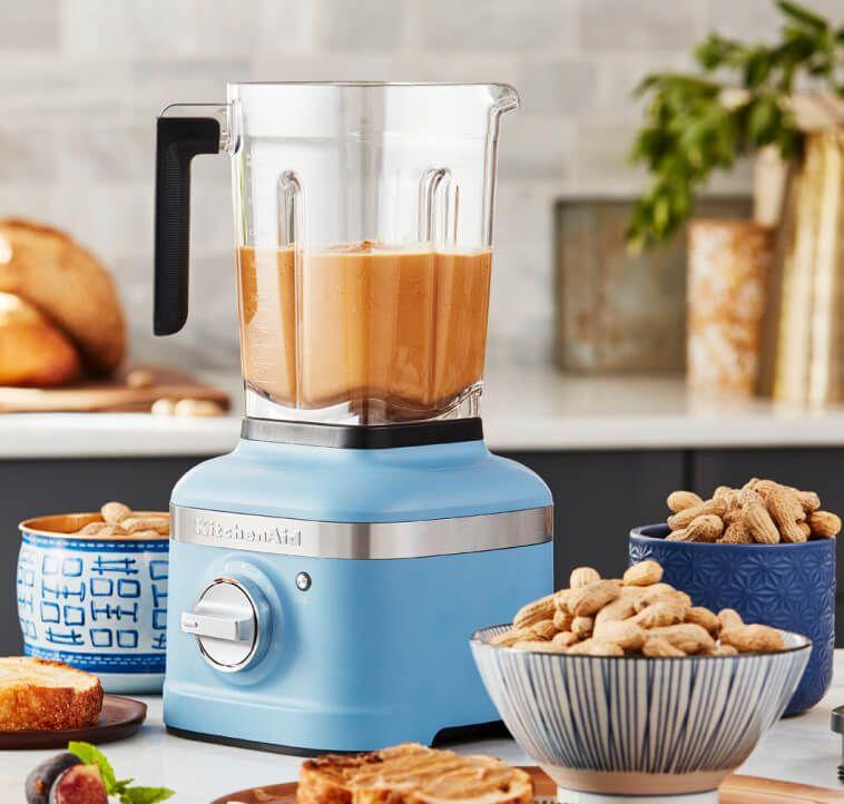 Peanut butter in a KitchenAid® blender