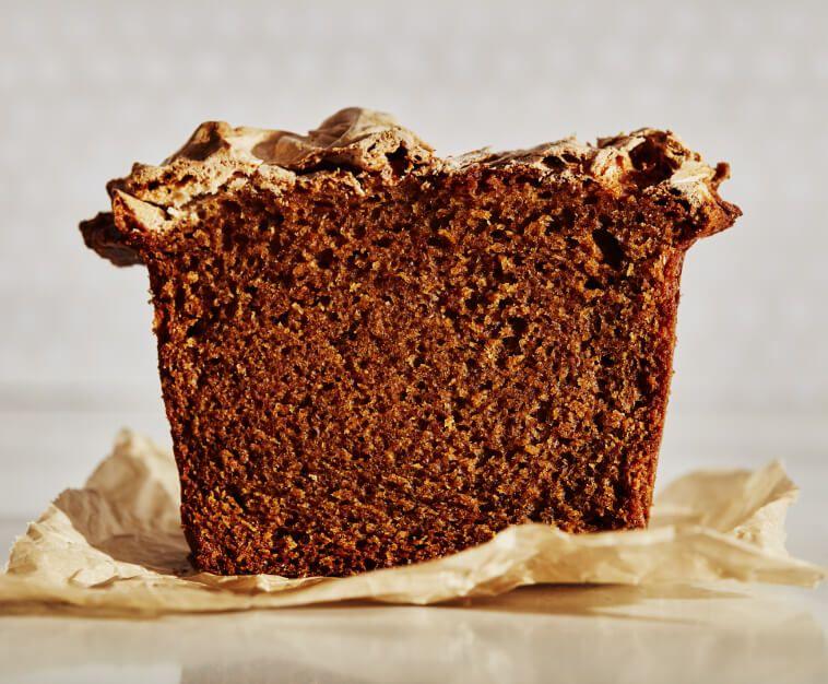 A slice of homemade bread