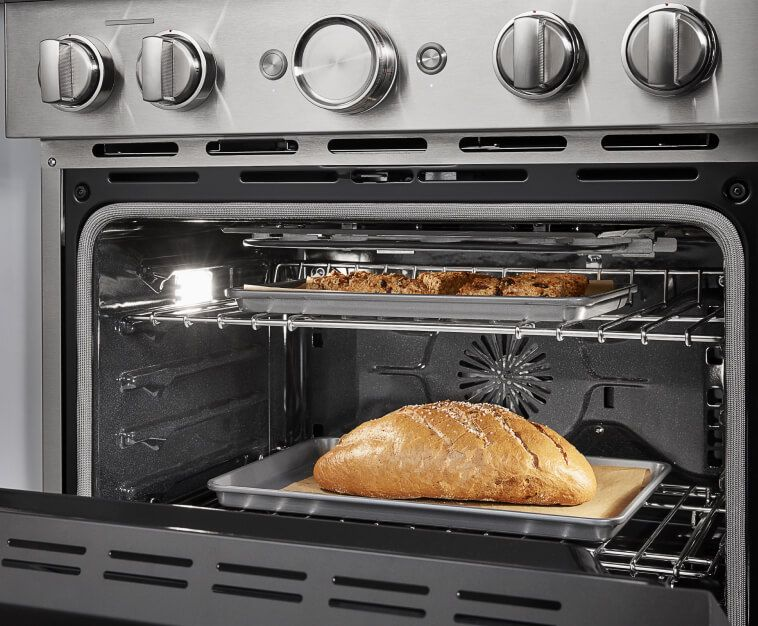 Bread rising in the oven