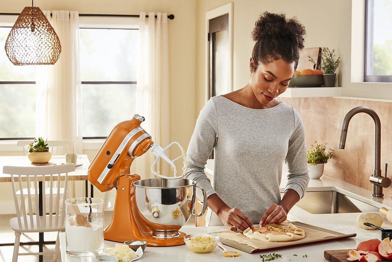 Preparing food with a KitchenAid® stand mixer