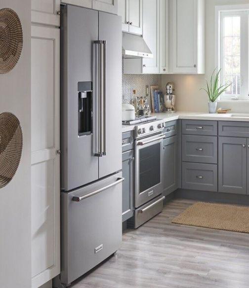 French door refrigerator in a kitchen