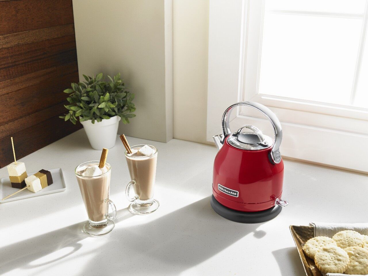 An electric kettle works in any kitchen.