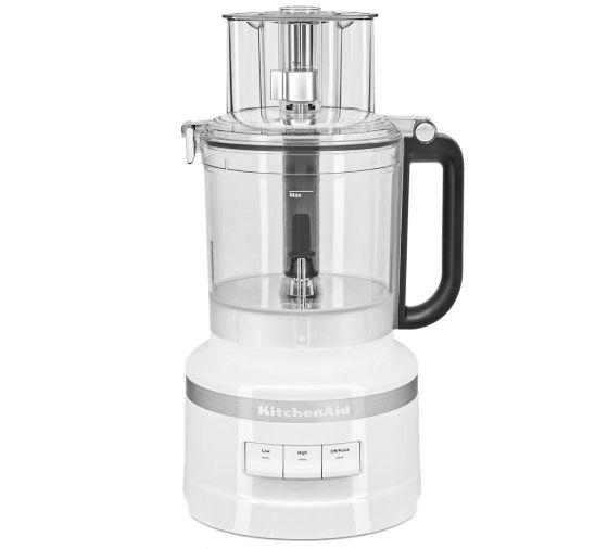 KitchenAid® 9 Cup Food Processor in White.
