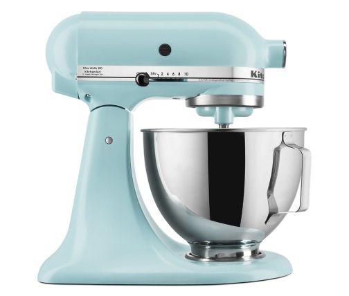 Light blue stand mixer for beginner bakers