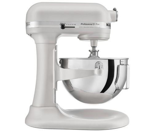 Side profile of white bowl-lift stand mixer for experienced bakers
