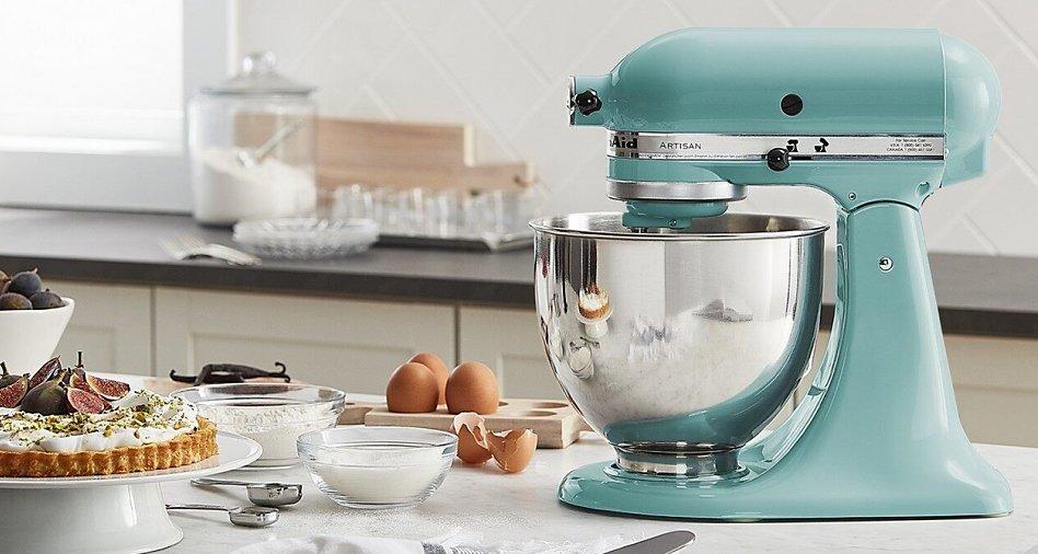Light blue KitchenAid® stand mixer