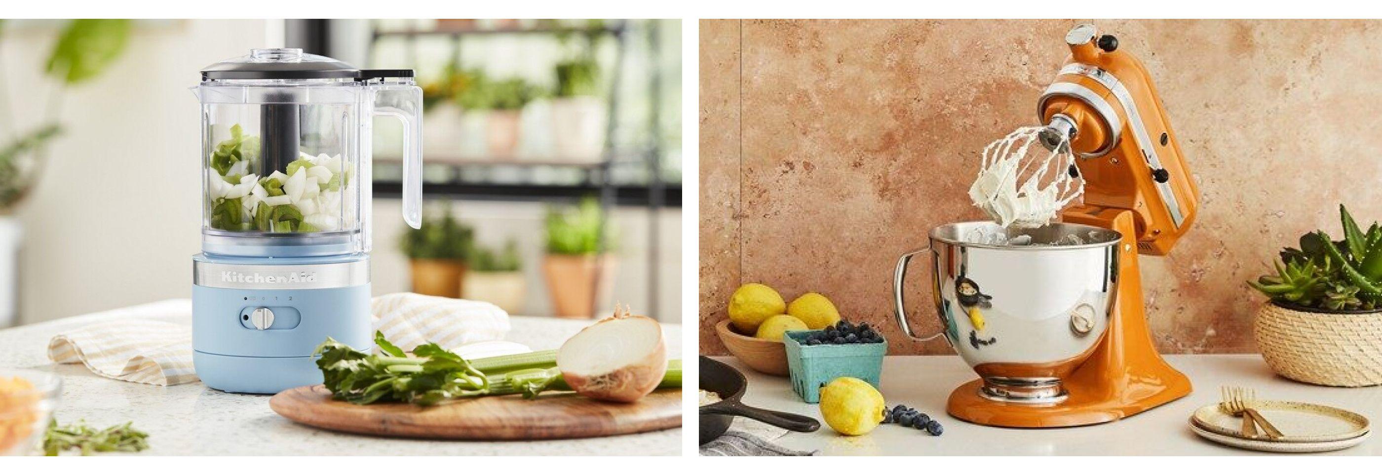 KitchenAid® stand mixer and food processor comparison picture