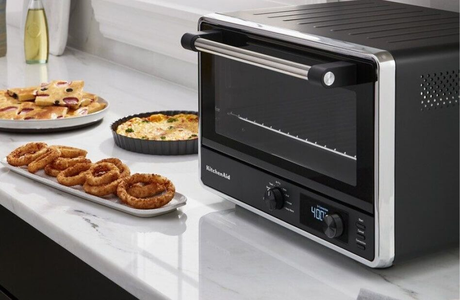 KitchenAid® countertop oven with various foods