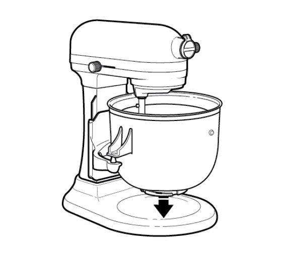 Ice Cream Maker attachment freeze bowl being positioned onto stand mixer