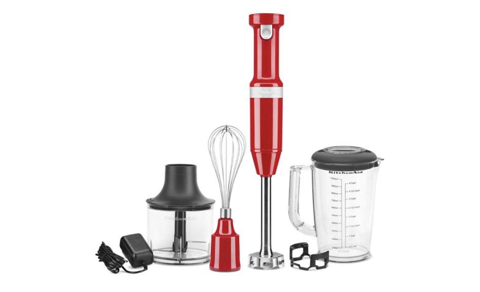 A KitchenAid® hand blender and hand blender accessories