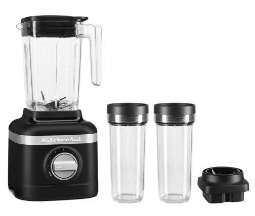 Black KitchenAid® blender with two personal blending jars