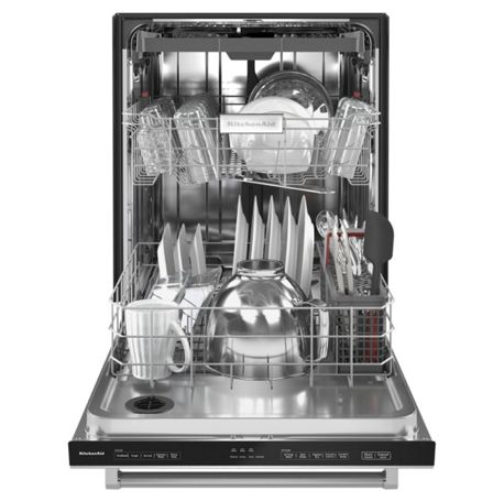 Closed top control dishwasher in stainless steel