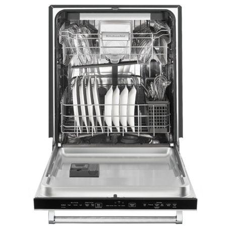 Open panel-ready dishwasher