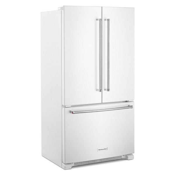 White French door style of refrigerator