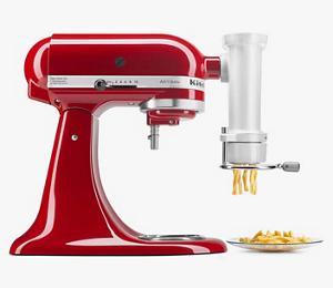 Una prensa para pasta Gourmet KichenAid color rojo cereza.