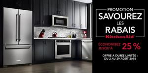 Savourez les rabais : Économisez jusqu'à 25 % sur certains électroménagers