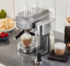 A Semi-Automatic Espresso Machine and Automatic Milk Frother.