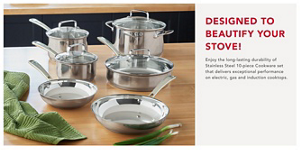 KitchenAid Tri Ply Stainless Steel Cookware