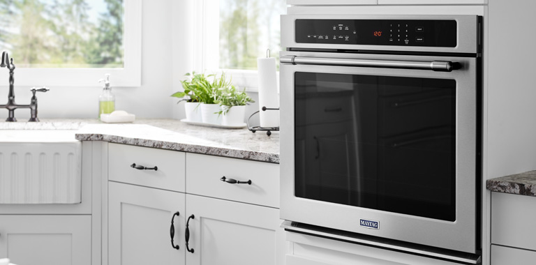 Maytag Built-In Single Oven In Modern Kitchen
