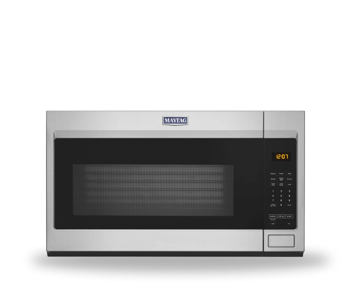 Maytag® over-the-range microwave.
