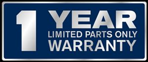 1 year limited parts only warranty