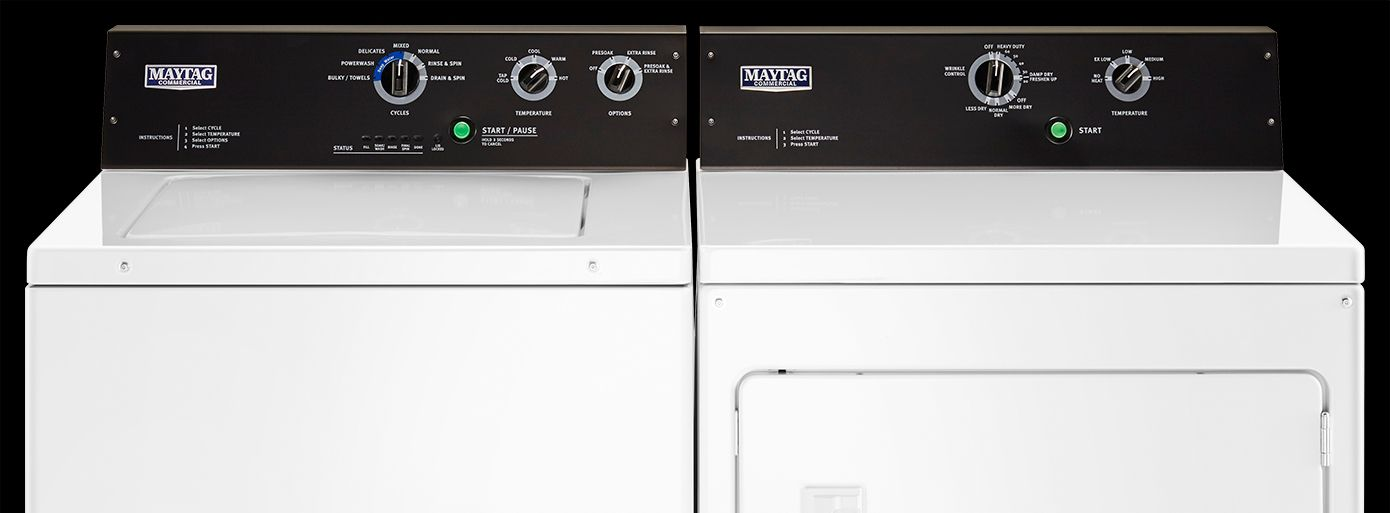 Commercial-grade laundry pair
