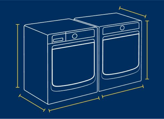 Diagram of a Maytag washer and dryer pair.