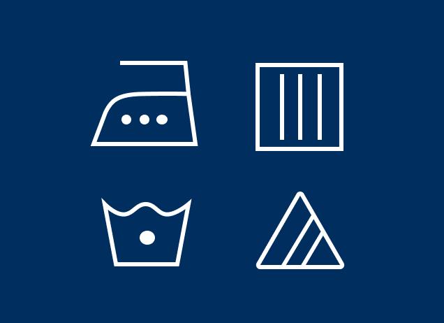 Four laundry symbols