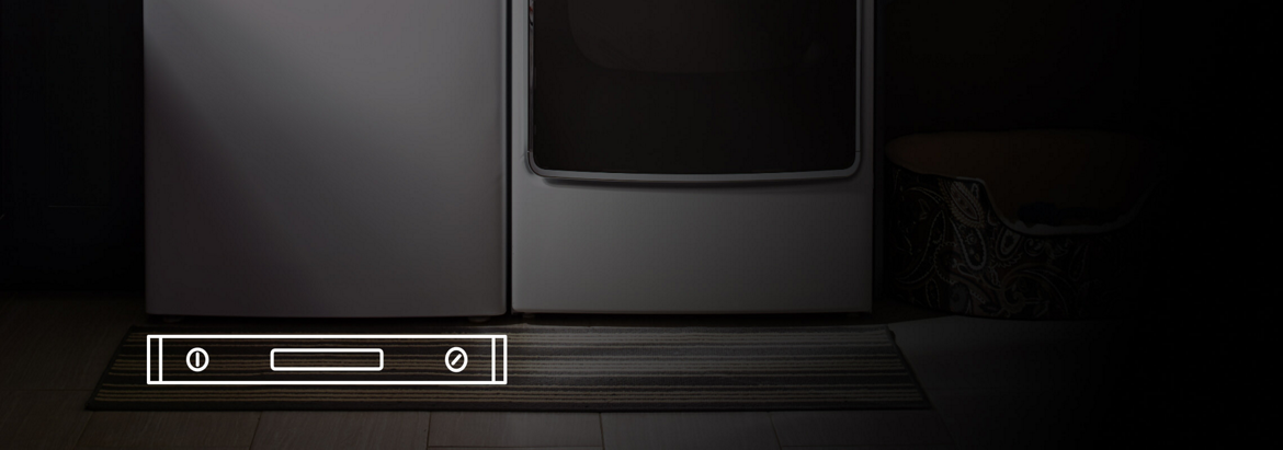 Maytag® front-load washer installed on a level surface.