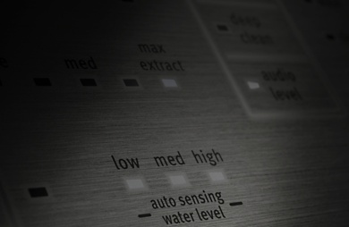Maytag® washing machine water level controls.