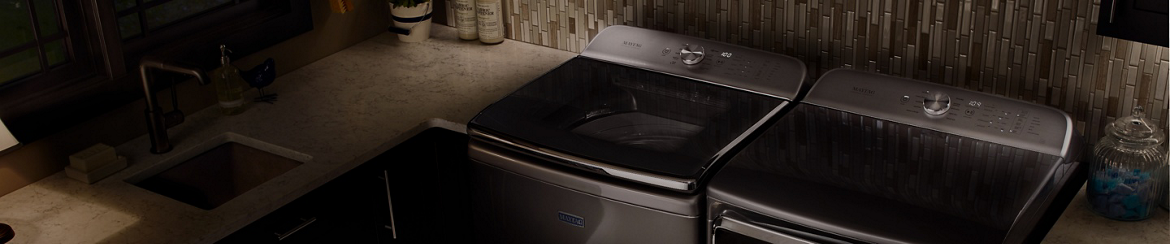 Maytag® Bravos® washer and dryer replacement models.