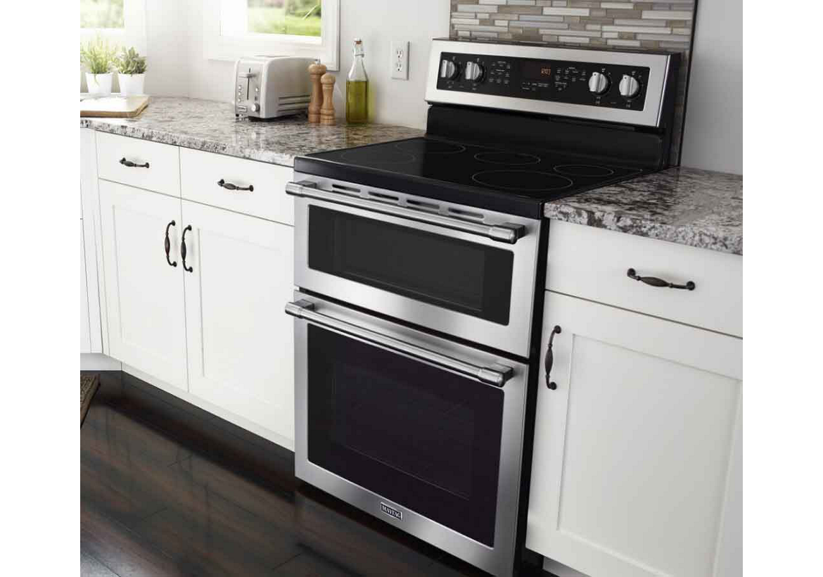 Start cooking with gas or electric ranges from Maytag.