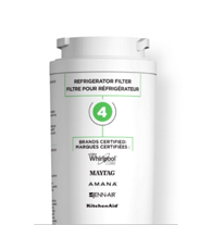 Replace refrigerator water filter 4.