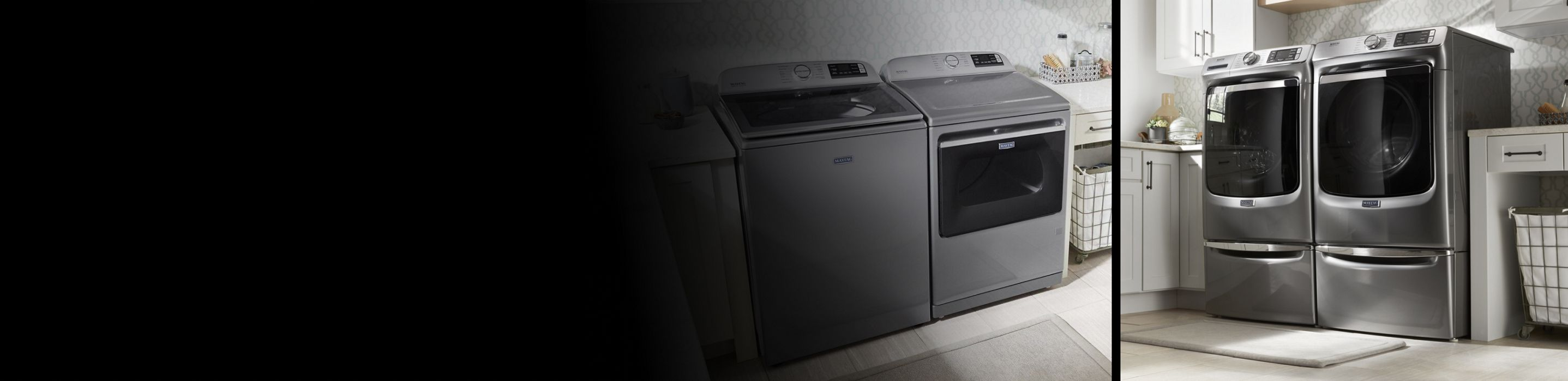 Maytag® top load and front load laundry pairs