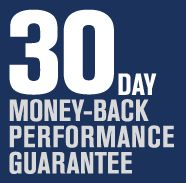 30 day money-back performance guarantee