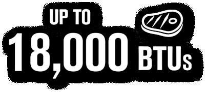 Up to 18,000 BTUs
