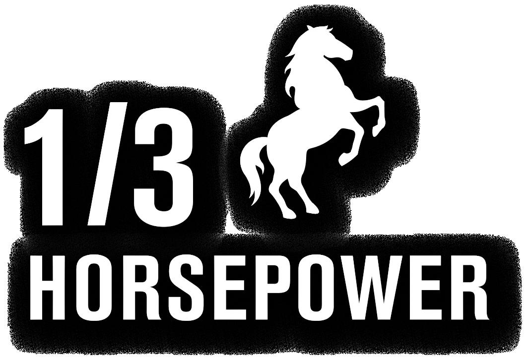 1/3 Horsepower