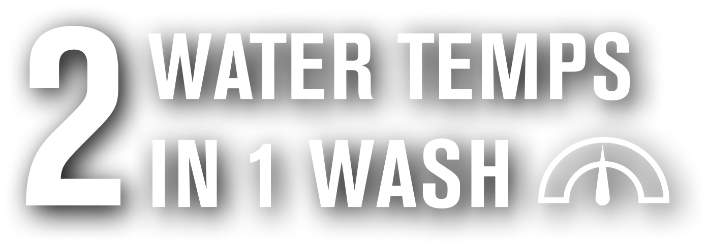 2 Water Temps in 1 Wash