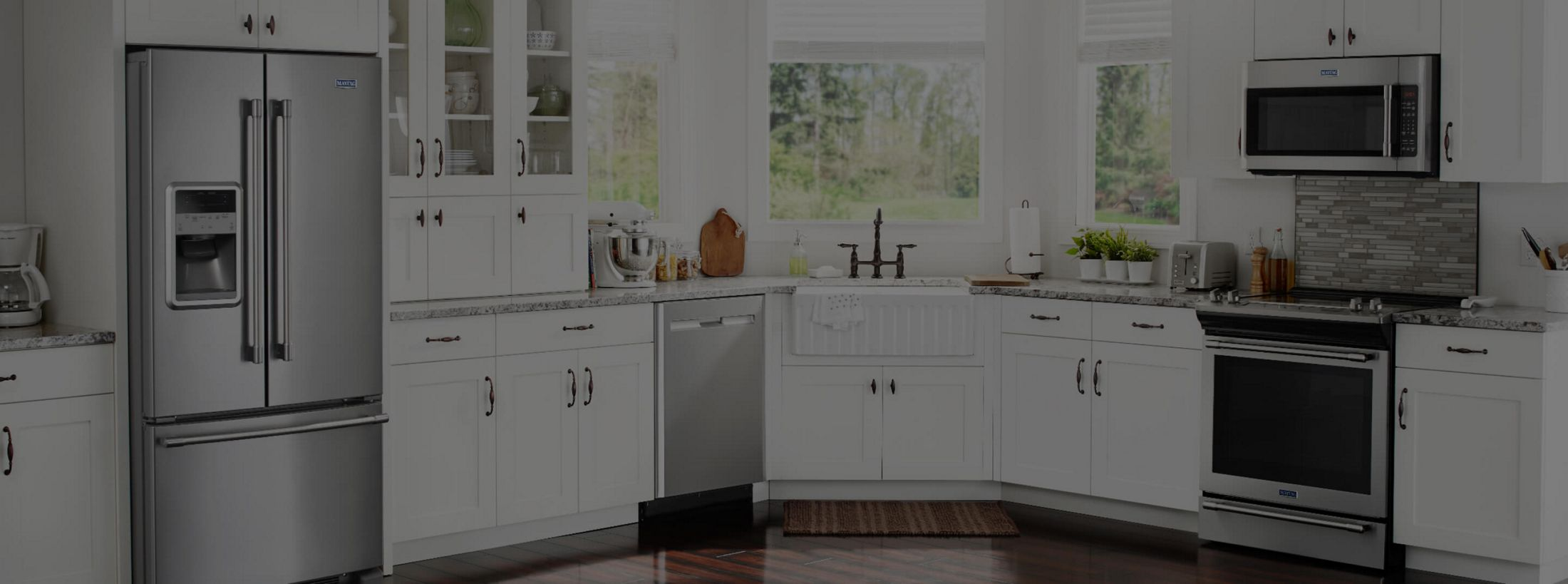 A kitchen equipped with Maytag® appliances.