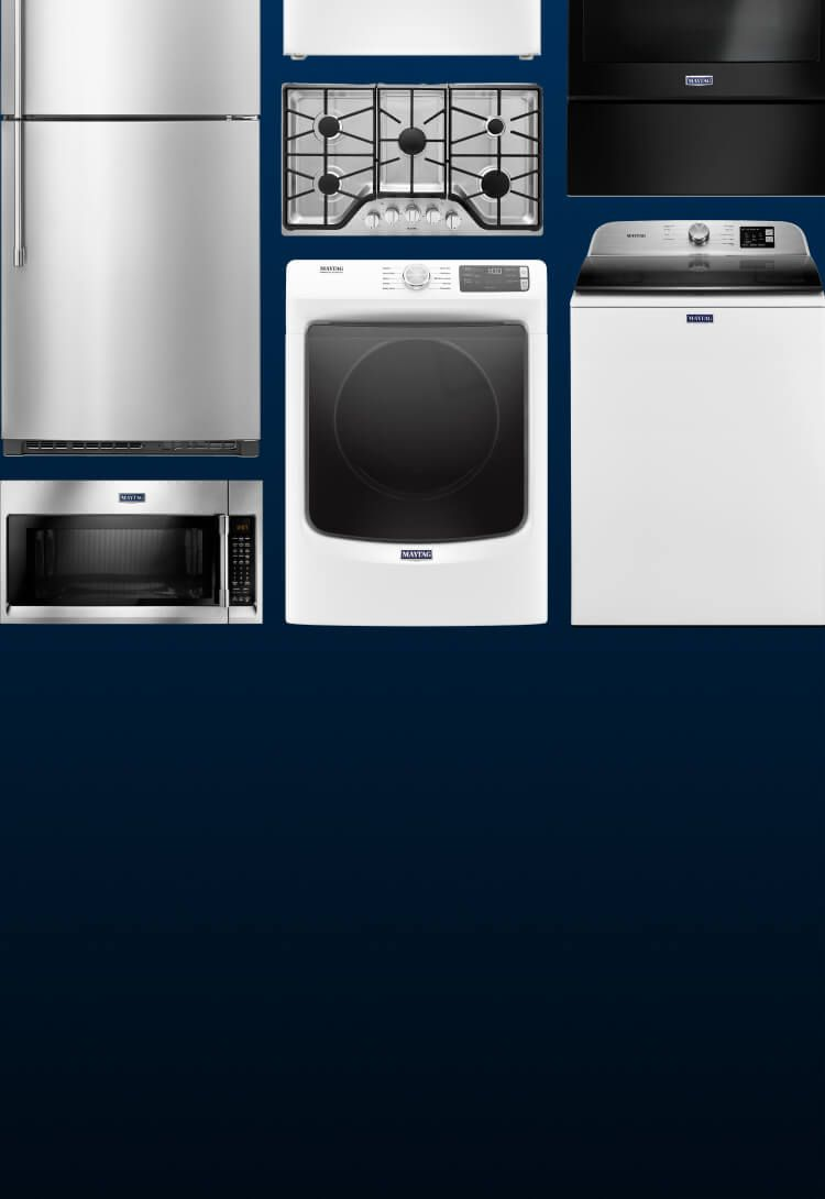 An array of different Maytag® appliances.